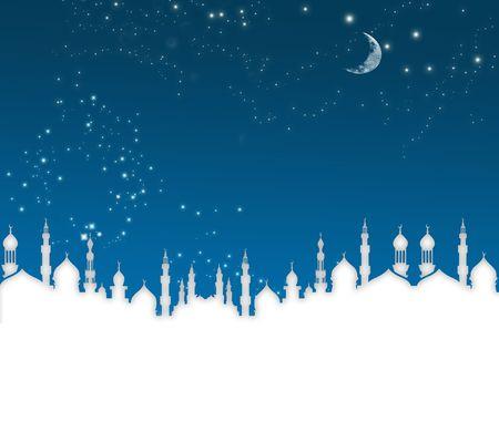 mosque illustration:  islamic ramadan template , ramadan greeting
