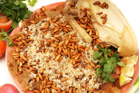 rice with pine and chicken  photo