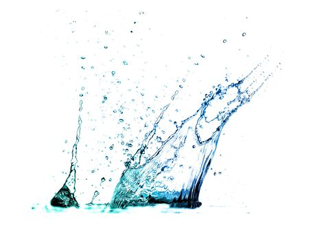 Isolated shotS of water splashing  Stock Photo - 5628703