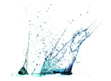 Isolated shotS of water splashing  Stock Photo