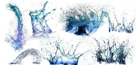 Isolated shotS of water splashing  Stock Photo