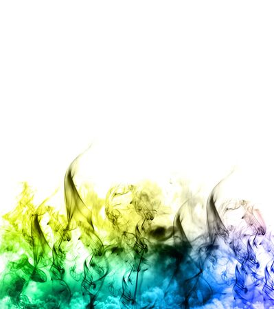 Colorful Rainbow Smoke frame  photo
