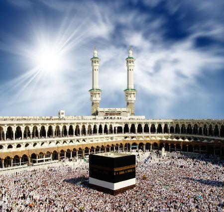 Kaaba Mecca Saudi Arabia           Stock Photo