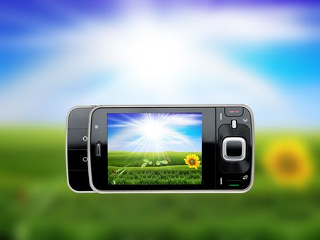 taking photo with mobile cell phone - landscape orientation Stock Photo - 5875526