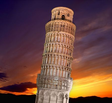 Leaning tower of Pisa  Imagens