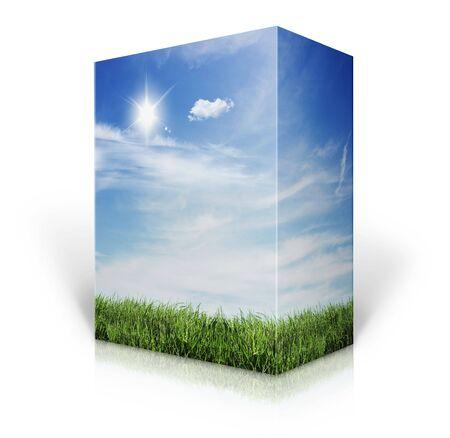 ebox: 3d nature Box  Stock Photo