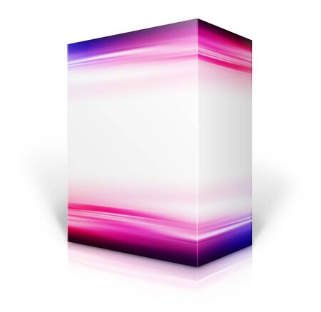 isolation backdrop: Software 3D box  Stock Photo