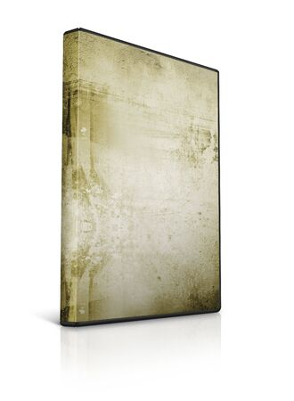 writable: dvd case with grungy background  Stock Photo