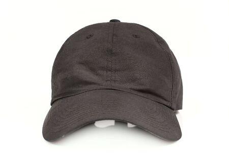 black cap isolated on white background  photo