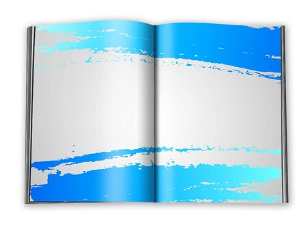 filling folder: open book with designed pages template
