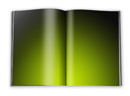 open book with empty designed pages with a paper Stock Photo - 6302936
