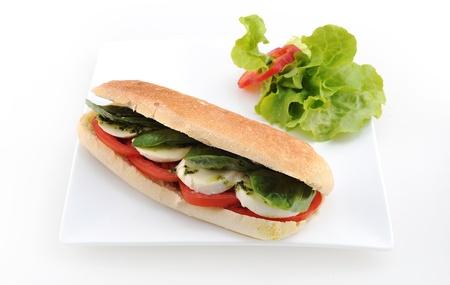 caprese salad: Tomato, cucumber & mint cheese Sandwich