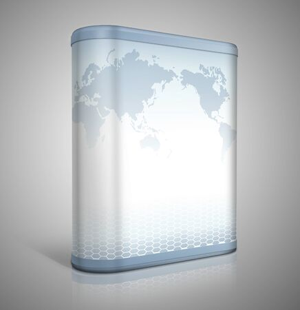 3d software box design Stock Photo - 9686095