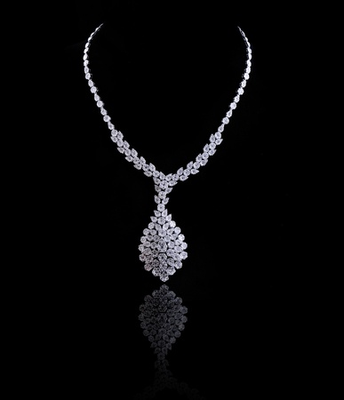 diamond necklace Stock Photo
