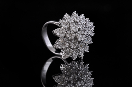 pricey: diamond ring with reflection