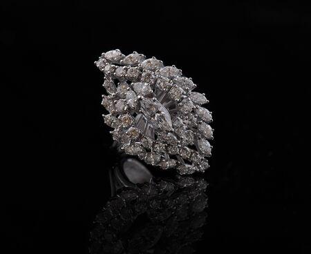 diamond earings with reflection photo