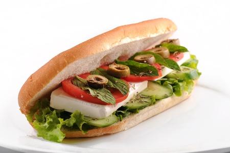 bap: Tomato, cucumber & mint cheese Sandwich