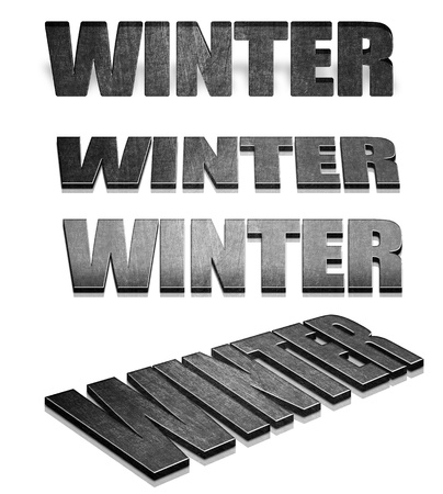 3d render of word Winter photo