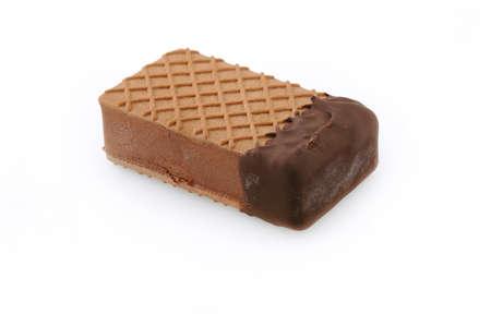 Chocolate ice cream isolated on white background Stock Photo - 9686031