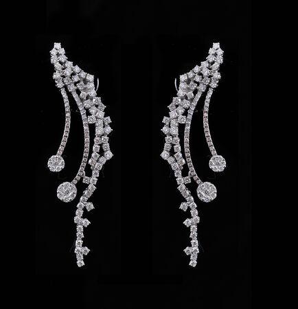 diamond earings with reflection Stock Photo - 9691391