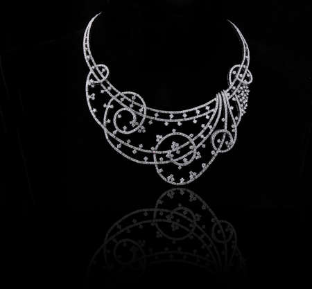 diamond necklace Stock Photo - 9689607