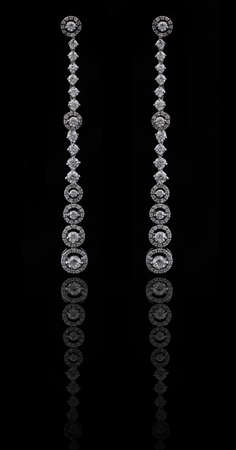 diamond earings with reflection Stock Photo - 9691177