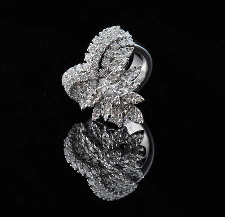 diamond ring with reflection Stock Photo - 9689891
