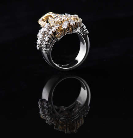 diamond ring with reflection photo