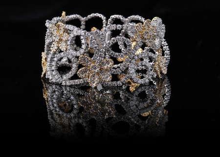 diamond bracelet with reflection Stock Photo - 9691909