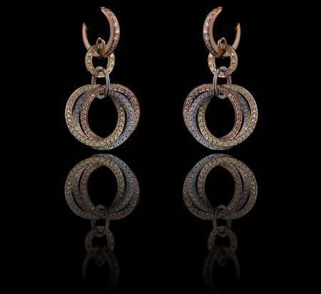 diamond earings with reflection Stock Photo - 9691918