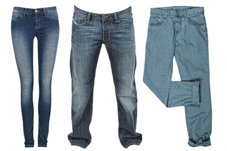 Jean a popular trousers for men and women photo