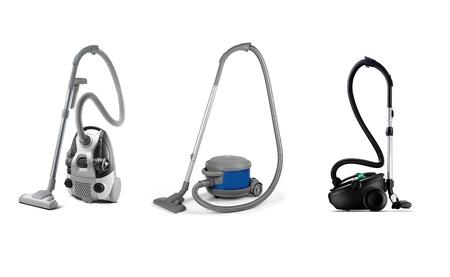 set of modern vacuum cleaner