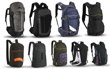 Backpacks isolated on white background