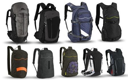 Travel Backpack: Mochilas aisladas sobre fondo blanco
