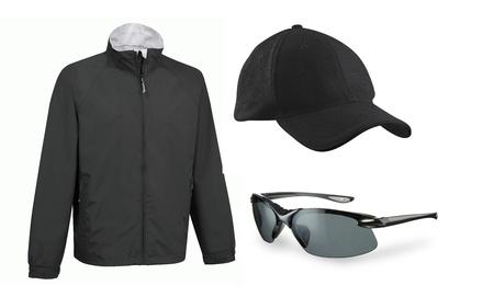 set of cap eyeglasses and a jacket isolated Stock Photo - 13606985