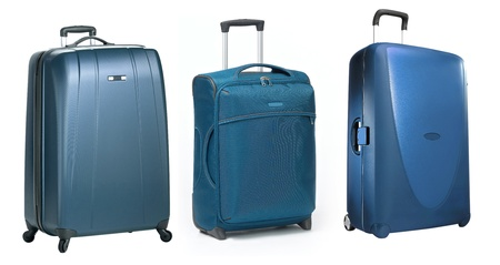 piece of luggage: set of Traveling bag isolated