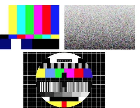 信号がないのセットワイド スクリーンのテレビのテスト パターン 写真素材