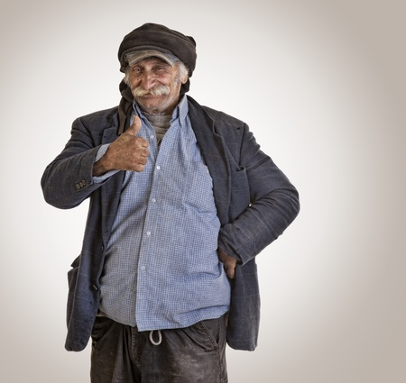 old lebanese man with thumbs up photo
