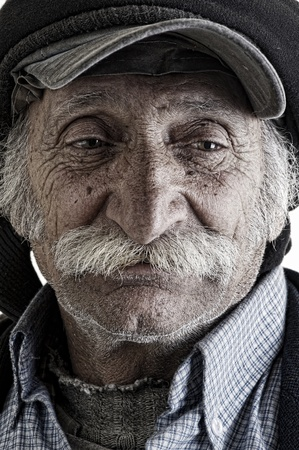 lebanese: old traditional lebanese man with mustache