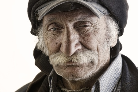 old traditional lebanese man with mustache photo