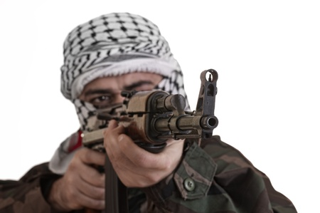soldier from palestine wearing keffieyh Stock Photo - 12651836
