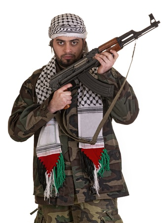 soldier from palestine wearing keffieyh Stock Photo - 12651843