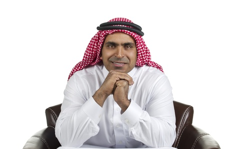 abudhabi: Portrait of a successful arabian business man smiling  Stock Photo