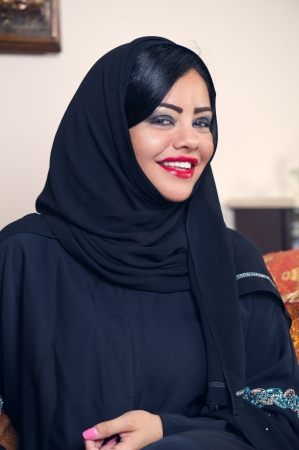 beautiful arabian lady wearing hijab  Stock Photo - 13643697