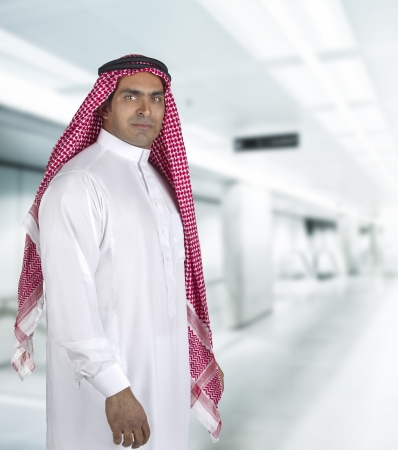traditional arabian business man in office  photo