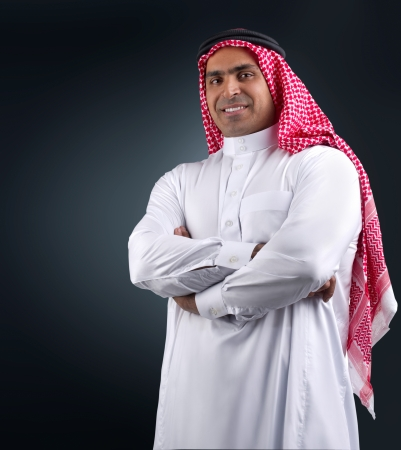 arab man: traditional arabian business man