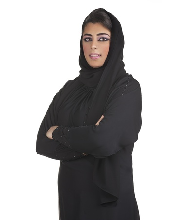 arabian business executive woman wearing hijab posing