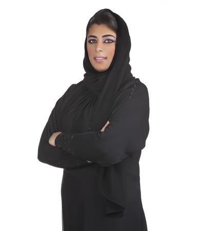 arabian business executive woman wearing hijab posing Imagens - 13658912