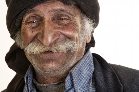 arabian lebanese man with big mustache smiling  photo