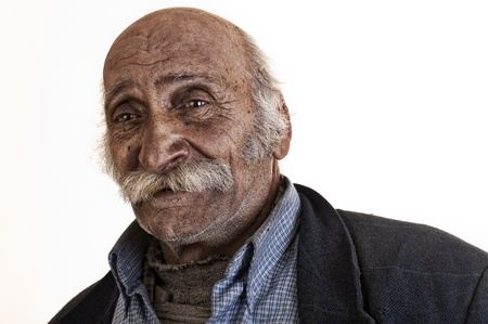 old arabian lebanese man with big mustache  photo